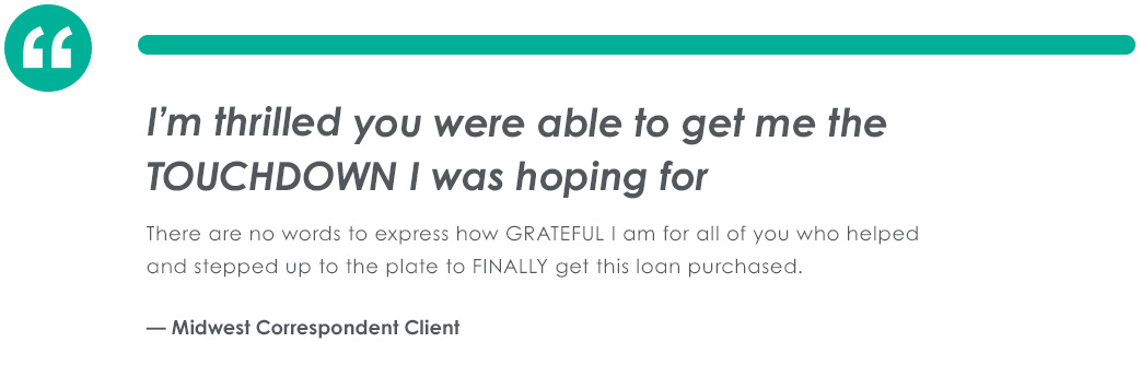 Testimonial From Midwest Correspondent Client