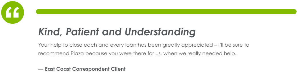 Testimonial From East Coast Correspondent Client