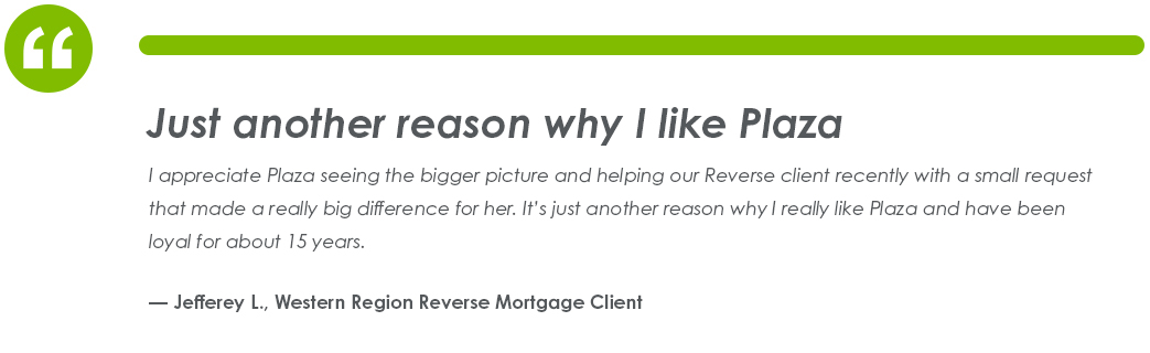 Testimonial from Jefferey L., Western Region Reverse Mortgage Client