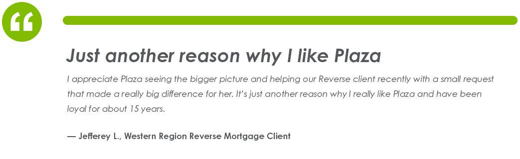 Testimonial from Jefferey L., Western Region Reverse Mortgage Client